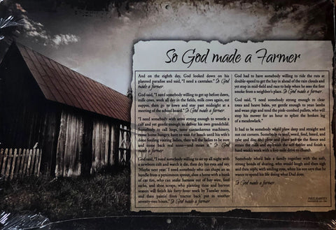 Brett West So God Made a Farmer Tin Sign