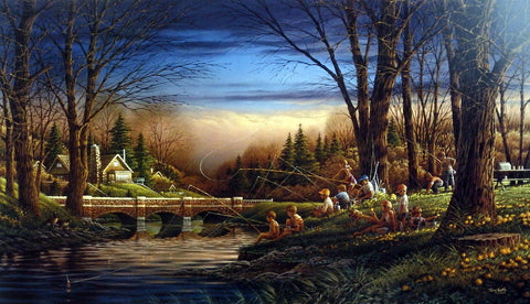 Terry Redlin Children's Print SPRING FISHING