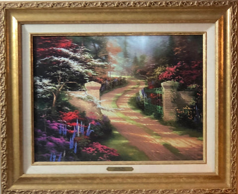 Thomas Kinkade Spring Gate Garden Art Framed