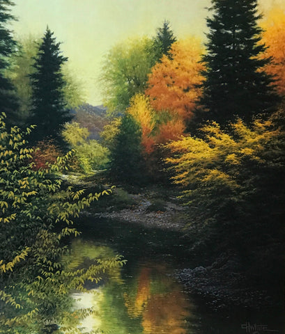 Charles White Still Waters Landscape Tree Art Print-Signed
