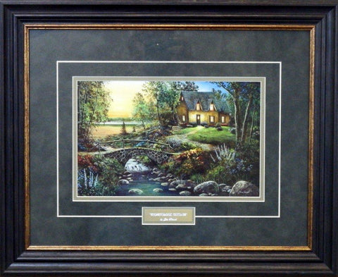 Jim Hansel Stoneybrook Cottage Art Print-Framed 21 x 17