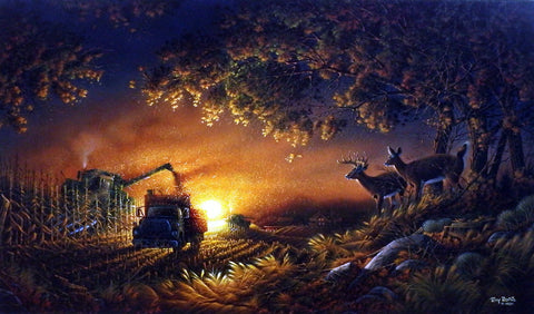 Terry Redlin Sunset Harvest