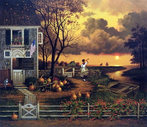 Charles Wysocki Fall Picture Supper Call