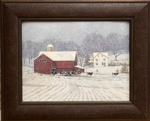 Bonnie Mohr The Home Place Farm Country Art Print-Framed 21.5 x 17.5
