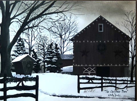 Billy Jacobs The Christmas Barn Lighted Wrapped Canvas