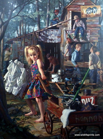 Bob Byerley Children's Print Boys Club Tree House