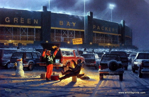 Don Kloetzke Green Bay Packer tailgating art print THE DIEHARDS