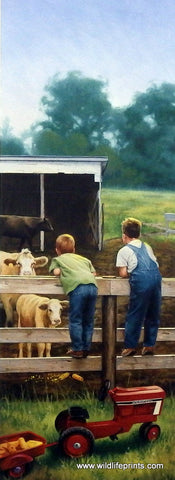 Charles Freitag Children on Farm Picture THE FEEDLOT