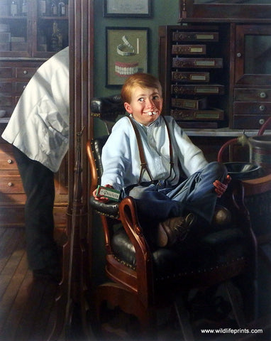 Bob Byerley Children's Print Visit to Dentist