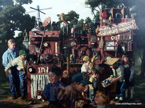 Bob Byerley Children's Print Mad Scientist