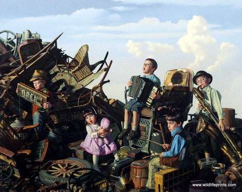 Bob Byerley children's print playing in the band