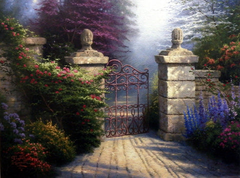"Thomas Kinkade The Open Gate - 24""x18"" Printer's Proof"