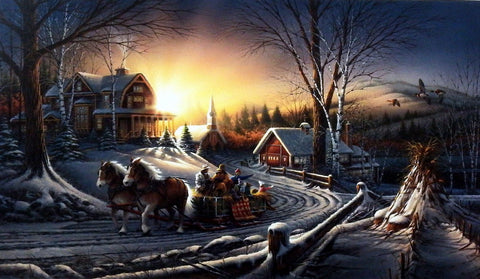 Terry Redlin The Pleasures of Winter Encore