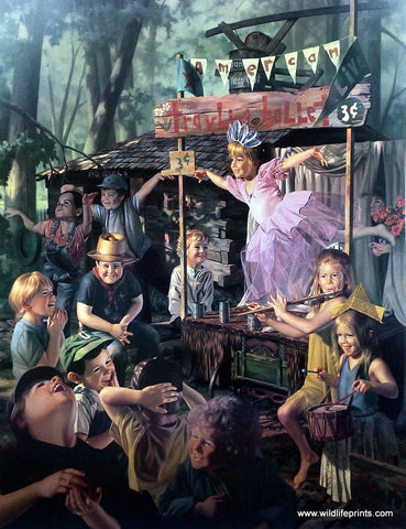Bob Byerley Children's Print Playing Ballet