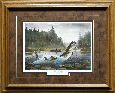 Les Kouba The Live Log Fishing Art Print-Framed