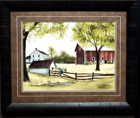 Billy Jacobs The Springhouse Farm Barn Country Art Print-Framed 23 x 19