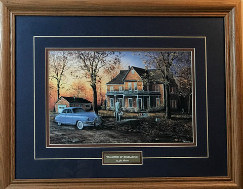 Jim Hansel A tradition of Excellence Art Print-Framed