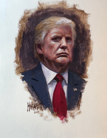 Jon McNaughton Portrait of Donald Trump Art Print  11 x 14 FREE SHIPPING