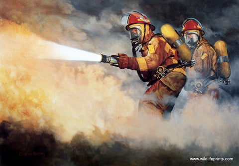 Picture of firefighters by Charles Freitag UNITED WE STAND