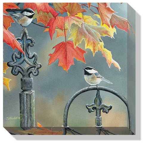 Susan Bourdet Victorian Seasons- Chickadees