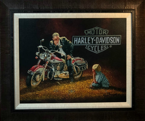 Dave Barnhouse When I grow Up Harley Canvas-Framed