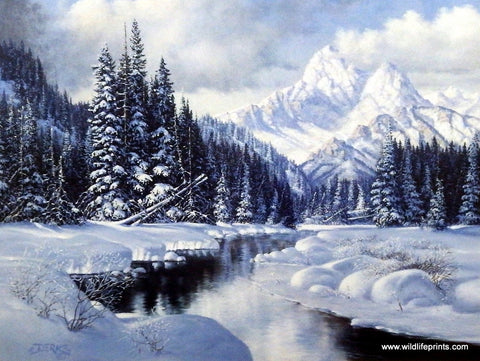 Derk Hansen Winter Mountain Art Print Scene