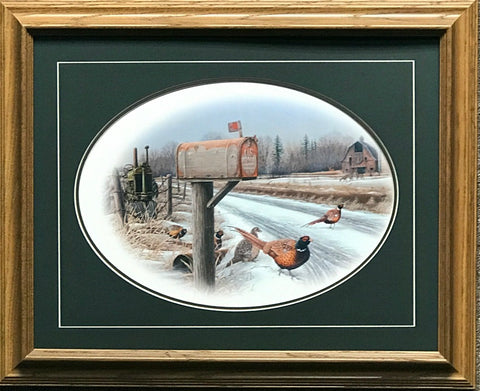 Greg Bordignon Winter Solstice Pheasant Farm Art Print Framed