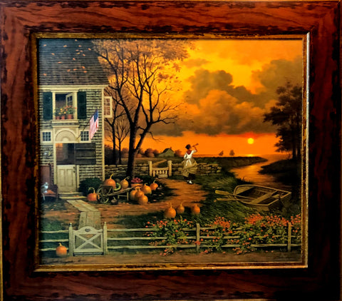 Charles Wysocki Supper Call Artists Proof Canvas-Framed