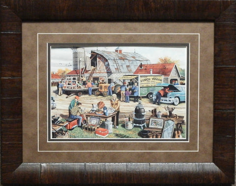 Ken Zylla Country Auction Print-Framed 19 x 15
