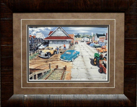 Ken Zylla Tracking Memories Train Print-Framed 19 x 15