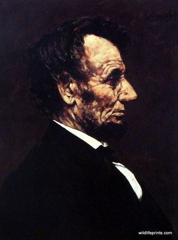 Bradley Schmehl's painting of Abraham Lincoln