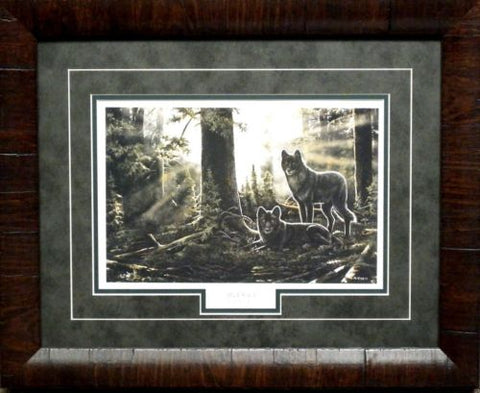 Andrew Kiss Black Watch Wolves Print-Framed (21x17)
