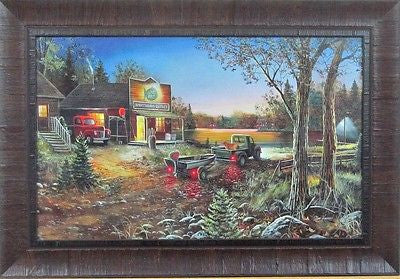 Good Old Days By Jim Hansel Lake Bait shop Framed