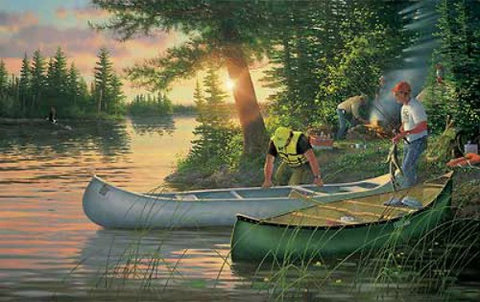 Michael Sieve Backcountry Canoe Camping Print