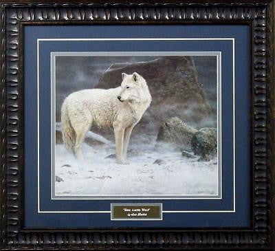 "Scott Zoellick ""High Artic Retreat"" Wolf Print-Framed 18"" x 16.5"""
