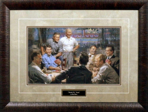 "Andy Thomas Grand Ol' Gang-Framed - 25""x 19"""
