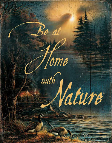 Redlin Be Home with Nature Tin Sign