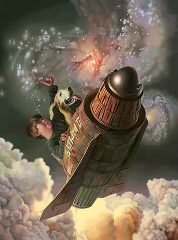 Bob Byerley One Small Step Space Shuttle Boy S/N Art Print