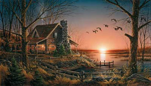 Terry Redlin Comforts of Home Cabin Art Print