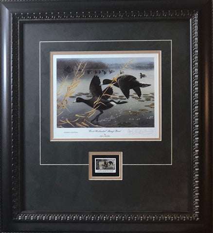 Les Kouba Coots Unlimited Signed Art Print-Framed