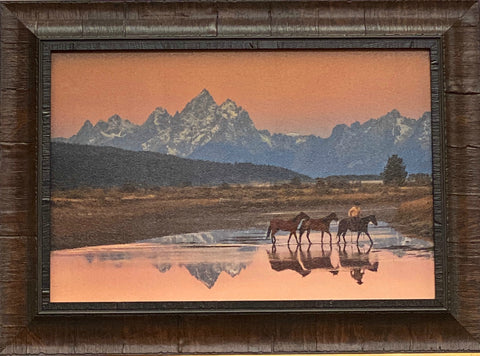 Robert Dawson Early Morning Horse Mountain Art Print-Framed 18.5 x 13.5
