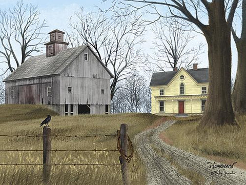 Jacobs, Homeward Farmhouse Barn Art Print-24 x 18