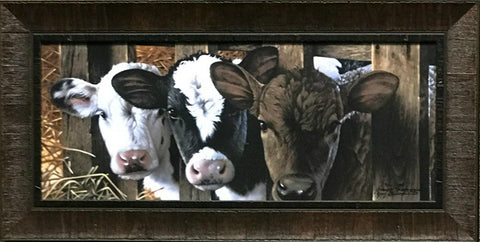 Jerry Gadamus Dairy Cow Print Framed