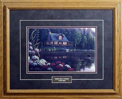Beside Still Waters Loon Cabin  Art Print By Kim Norlien- Framed