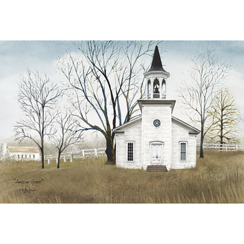 Billy Jacobs Amazing Grace Church Art Print 18 x 12