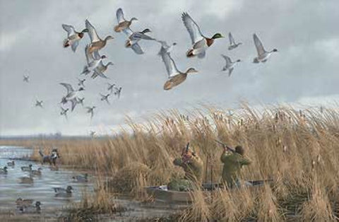 Micheal Sieve Mallards and Pintails Duck Hunting S/N Print