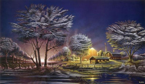 Terry Redlin Early Morning Frost Winter Art Print