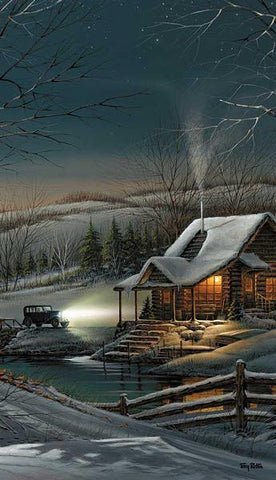 Terry Redlin Evening with Friends Cabin Pinnacle Print
