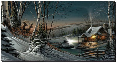 Terry Redlin Evening with Friends Lighted Wrapped Canvas
