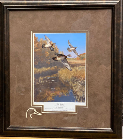 Scot Storm Fall Flight Duck Hunting Art Print-Framed